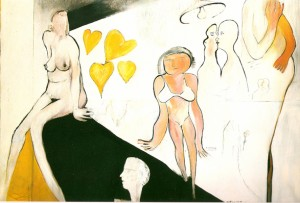 Gele harten oil on canvas 1973