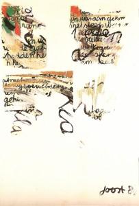 Letters, acrylics, 160x115cm 1984penseel